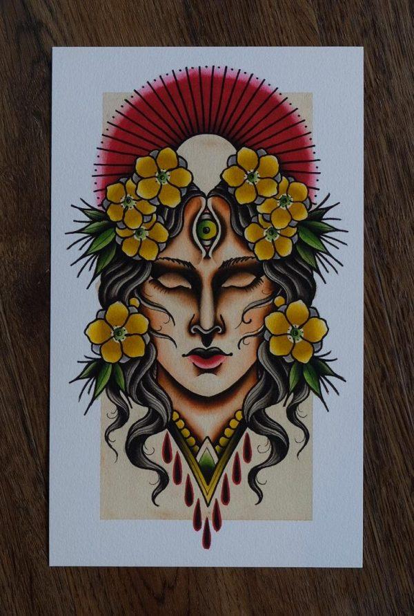 Spirit Woman by Nick Knatterton | Print | Earth•Stone