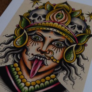 Print Goddess Kali by Nick Knatterton