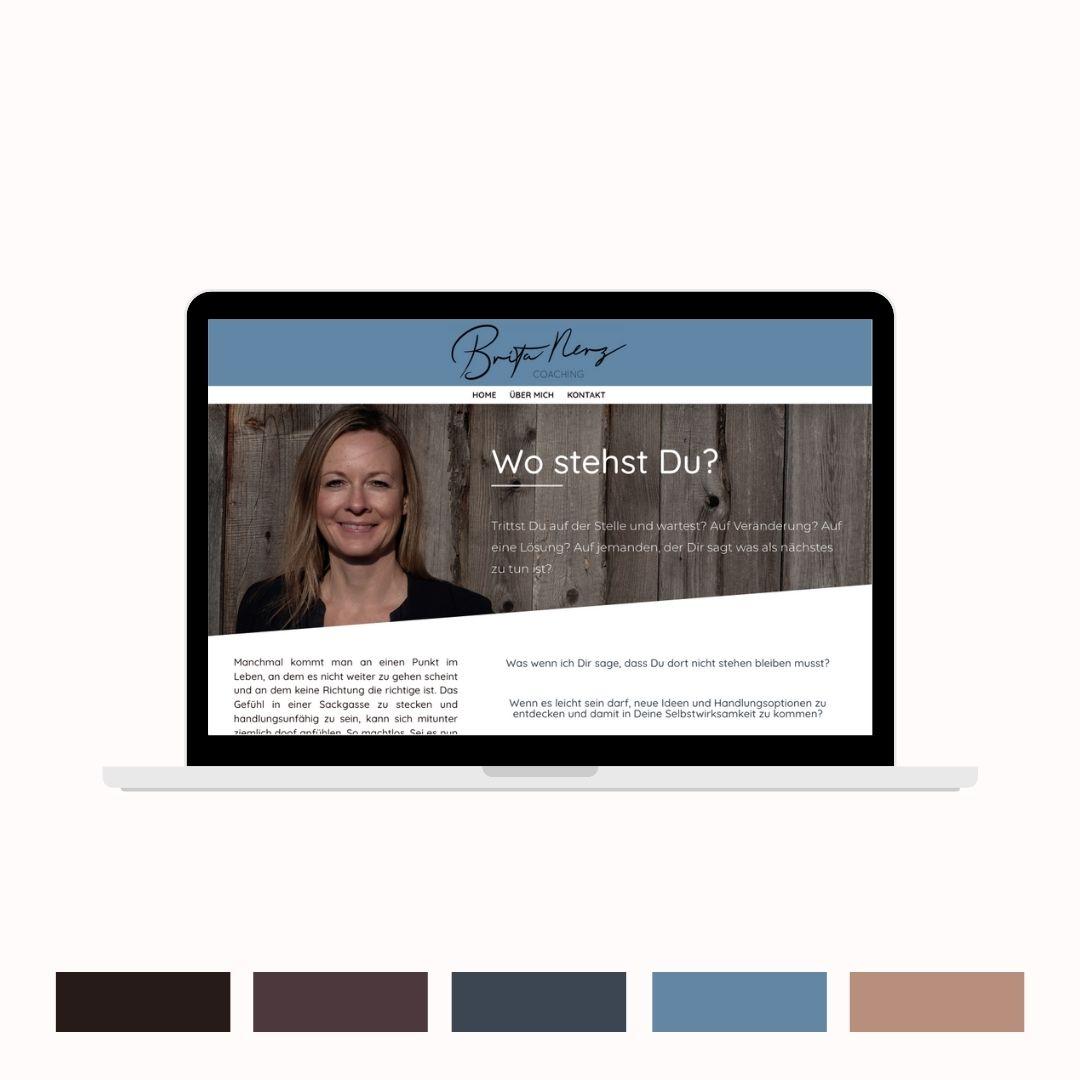 Brita Nerz Homepage und Farbpalette
